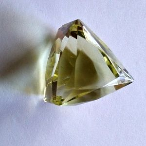 💎 Natural Lemon Topaz Trillion Cut